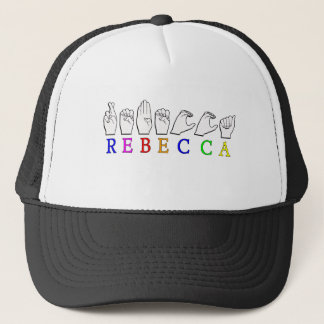 REBECCA ASL FINGERSPELLED NAME SIGN TRUCKER HAT