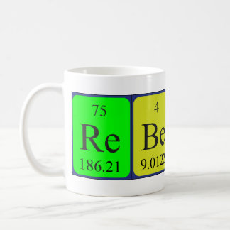 Rebecca periodic table name mug