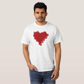 Rebecca. Red heart wax seal with name Rebecca T-Shirt