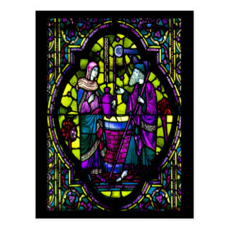 Rebecca Stained Glass Post Card