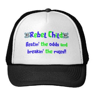 Rebel Child in Blues & Greens Cap