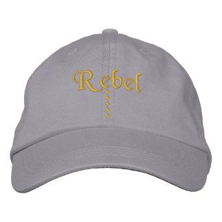 Rebel Embroidered Baseball Cap