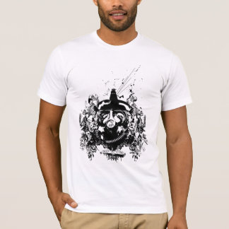 Rebel Gasmask Skull T Shirt