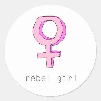 Rebel Girl Femme Transparent Sticker