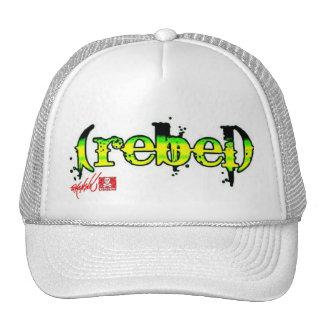 (rebel) Green trucker Cap