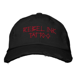 REBEL INK TATTOO EMBROIDERED BASEBALL CAP