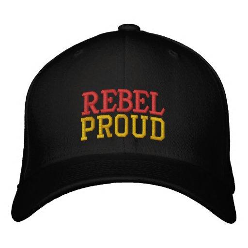 REBEL, PROUD EMBROIDERED BASEBALL CAPS
