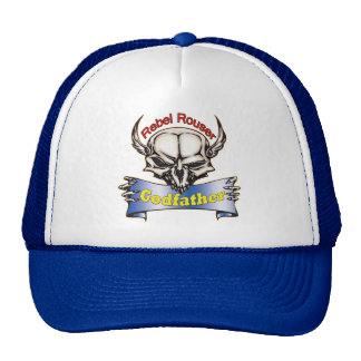 Rebel Rouser Godfather Father's Day Gifts Trucker Hat