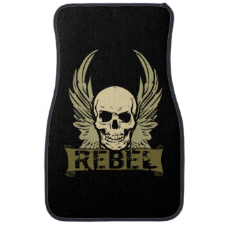 Rebel Skull With Wings Auto Front Floor Mats