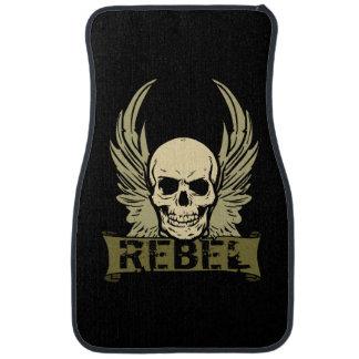 Rebel Skull With Wings Auto Front Floor Mats Floor Mat