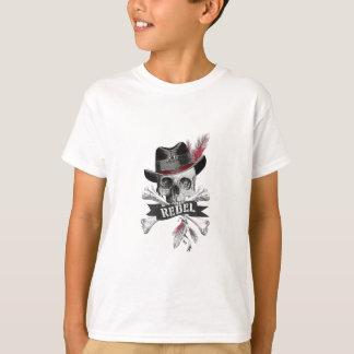 Rebel Tribal Gothic Skull - Cross bones T-shirt