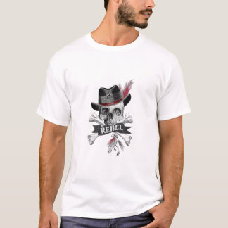 Rebel Tribal Gothic Skull - Graphic T-shirt