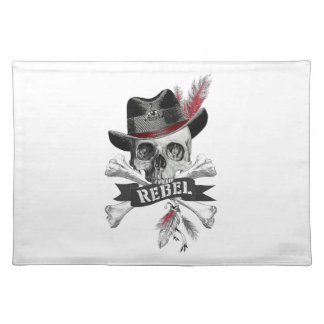 Rebel Tribal Gothic Skull Placemats