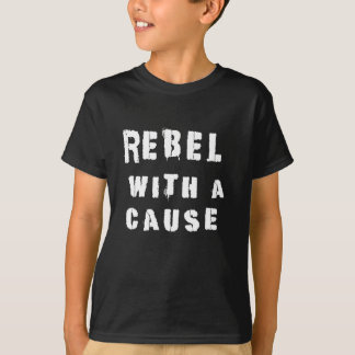 Rebel With A Cause Punk Retro Graffiti T Shirt