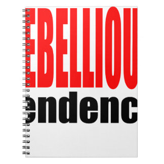 REBELLION tendency rebellious age teenager conflic Notebooks