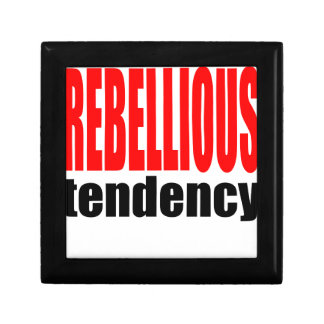 REBELLION tendency rebellious age teenager conflic Small Square Gift Box