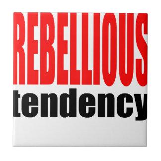 REBELLION tendency rebellious age teenager conflic Tile