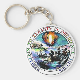 Rebellion To Tyrants Thomas Jefferson Great Seal Basic Round Button Key Ring