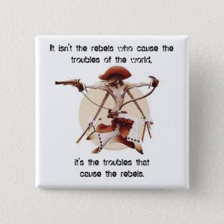 Rebels 15 Cm Square Badge