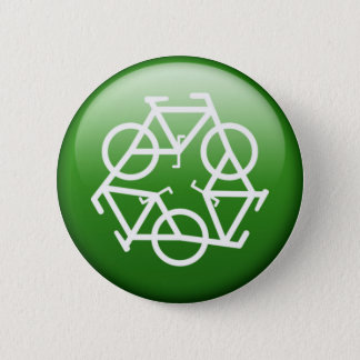 ReBicycle Green 6 Cm Round Badge