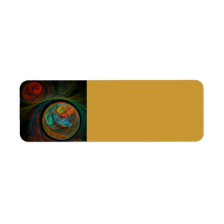 Rebirth Blue Abstract Art Return Address Label