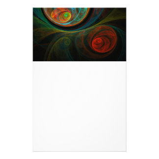Rebirth Blue Abstract Art Stationery