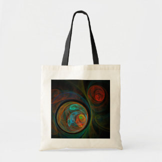 Rebirth Blue Abstract Art Tote Bag