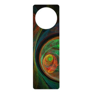 Rebirth Green Abstract Art Door Hanger