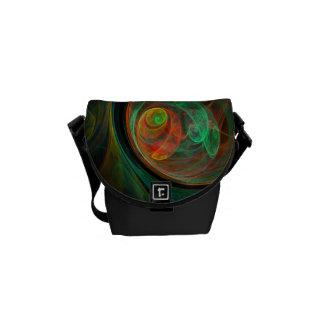 Rebirth Green Abstract Art Mini Bag Messenger Bags