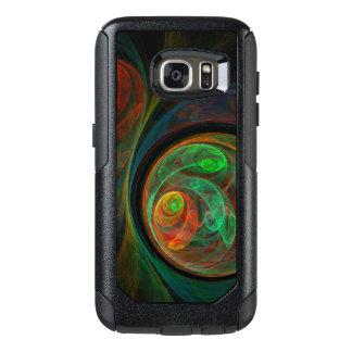 Rebirth Green Abstract Art OtterBox Samsung Galaxy S7 Case