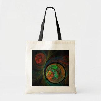 Rebirth Green Abstract Art Tote Bag