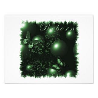 Reborn Butterflies Christian Art Green Custom Announcements