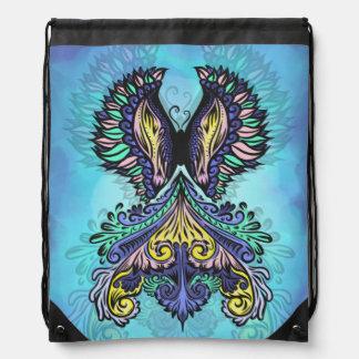 Reborn - Dark, bohemian, spirituality Drawstring Bag