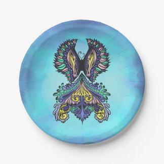 Reborn - Dark, bohemian, spirituality Paper Plate