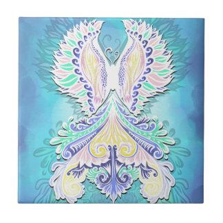 Reborn - Light, bohemian, spirituality Ceramic Tile
