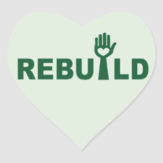 Rebuild the Lost with Love Heart Sticker