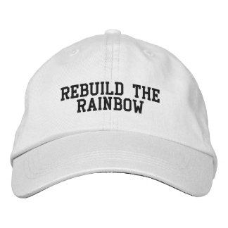 Rebuild the rainbow ball cap embroidered hat
