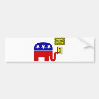 Rebuplican Government Shutdown 2011 Bumper Sticker
