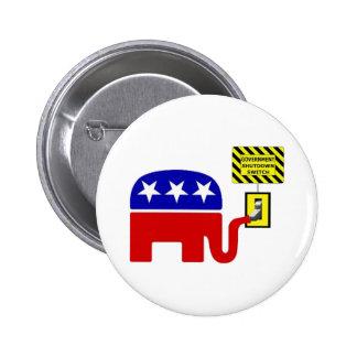 Rebuplican Government Shutdown 2011 Buttons
