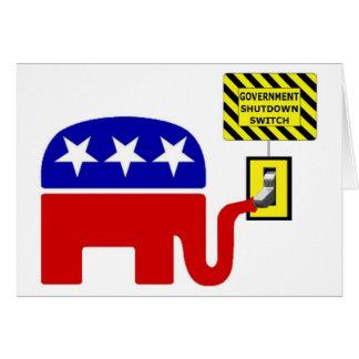 Rebuplican Government Shutdown 2011 Greeting Card