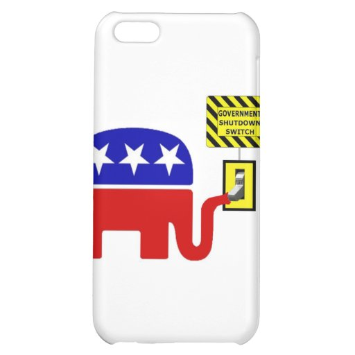 Rebuplican Government Shutdown 2011 Cover For iPhone 5C