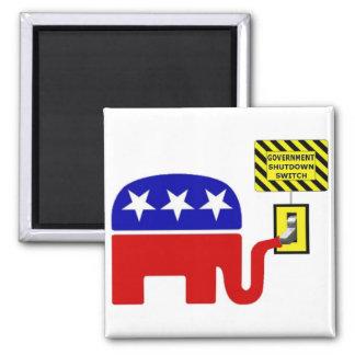 Rebuplican Government Shutdown 2011 Magnets