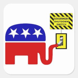 Rebuplican Government Shutdown 2011 Square Sticker