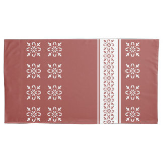 Rec Ochre Moroccan French damask king Pillowcase