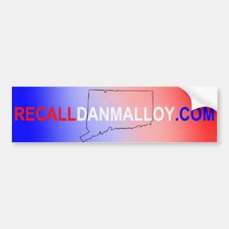 Recall Dan Malloy Bumper Sticker