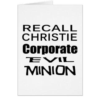 Recall Governor Chris Christie Koch Oil's Minion Greeting Card