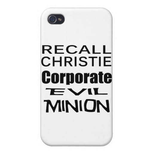 Recall Governor Chris Christie Koch Oil's Minion Case For iPhone 4
