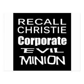 Recall Governor Chris Christie Koch Oil's Minion Postcard