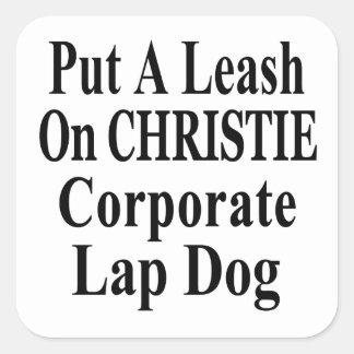 Recall Governor Chris Christie Koch Oil's Minion Square Sticker