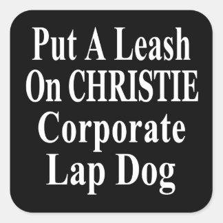 Recall Governor Chris Christie Koch Oil's Minion Square Stickers
